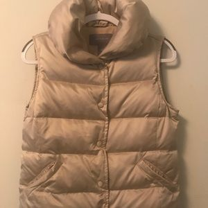 Ann Taylor Muted Gold Puffy Vest - Size XS